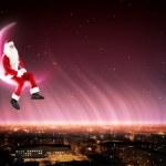 Santa on the moon — Stock Photo #16016567