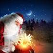 Santa with christmas letter - Foto Stock