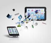 Tecnología de la comunicación moderna — Foto de Stock