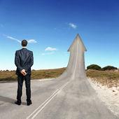 概念的成功之路 — 图库照片