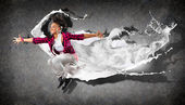 Modern style dancer — Stock Photo