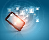 Social network communication — Stock Photo