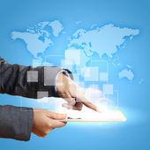 глобальный бизнес-сеть — Стоковое фото