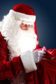 Santa claus s jeho taštička — Stock fotografie