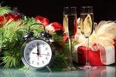 Verres de champagne à la fête du nouvel an — Photo