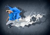 モダンなスタイルのダンサー — ストック写真