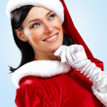 Pretty santa girl — Stock Photo