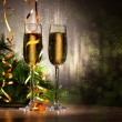 Glasses of champagne at new year party - Stock fotografie