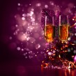 Glasses of champagne at new year party — Stock Photo #16244169