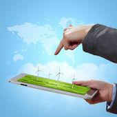 Tecnología para la protección de la ecología — Foto de Stock