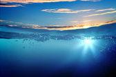 Solnedgången marinmålning — Stockfoto