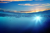 Sundown zeegezicht — Stockfoto