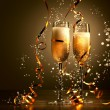 Glasses of champagne at new year party — Stock Photo #16357617