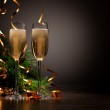 Glasses of champagne at new year party — Stock Photo #16357841