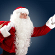 Santa claus with his gift bag — Stock Photo #16358187