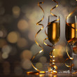 Glasses of champagne at new year party — Stock Photo #16358463
