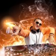 Stock Photo: Dj and mixer