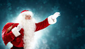 Christmas theme with santa — Stock Photo