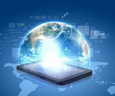 Comunicação de rede social — Foto Stock