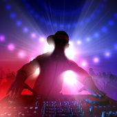 Dj and mixer — Foto Stock