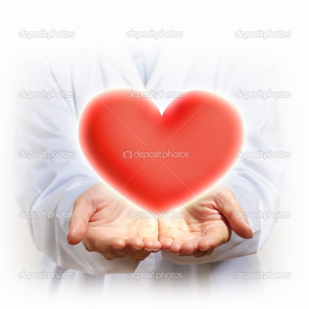 A Big Red Heart in thehand of a person — Stock Photo #16357321