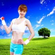 Womin sport wear doing exercise — Stock Photo #16360313