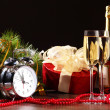 Glasses of champagne at new year party — Stock Photo #16360735