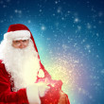 Santa with a sack — Stock Photo #16362079