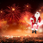 Santa on the moon — Stock Photo #16362219