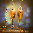 Glasses of champagne at new year party — Stock Photo #16362673