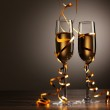 Glasses of champagne at new year party — Stock Photo #16363061