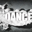 Word Dance on grey background — Stock Photo