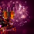 Glasses of champagne at new year party — Stock Photo #16366549