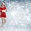 Stock Photo: Attracive girl in santa clothes
