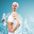 Sport woman and pure water - Foto Stock