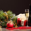 Glass of champagne — Stock Photo #16367673