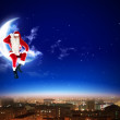 Stock Photo: Santa on the moon
