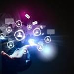 Modern wireless technology and social media — Stock Photo #16368415