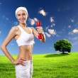 Woman in sport wear doing exercise — Stock Photo #16368641