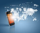 现代通信技术 — 图库照片
