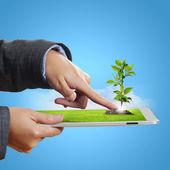 Tecnologia para a proteção da ecologia — Foto Stock