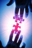 Pezzi del puzzle — Foto Stock