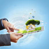 Technology for ecology protection — Stock Photo
