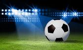 Schwarze und weiße Fußball — Stockfoto