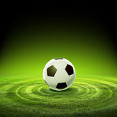 Black and white soccer ball — Stock Photo