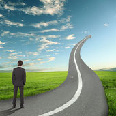 Concept of the road to success — Stock Photo