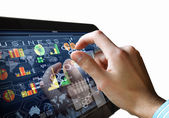 Tecnología moderna en los negocios — Foto de Stock