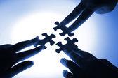Peças do puzzle — Foto Stock