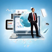 Modern technology illustration — Stock Photo