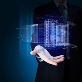 техника автоматизации проектирования зданий — Стоковое фото